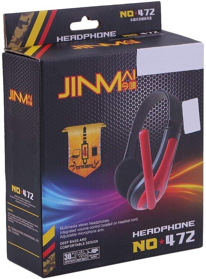 Jowtom JM-472 Universal Computer Laptop PC Ergonomic Design 3.5MM Wired Game Headset LA Universal