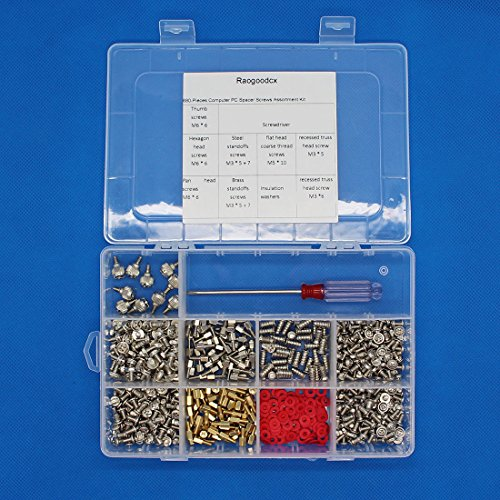 Raogoodcx 680-Pieces Phillips Head Computer PC Spacer Screws Assortment Kit for Hard Drive Computer Case Motherboard fan power graphics (Extra: Phillips Screwdriver) by Raogoodcx (Image #4)