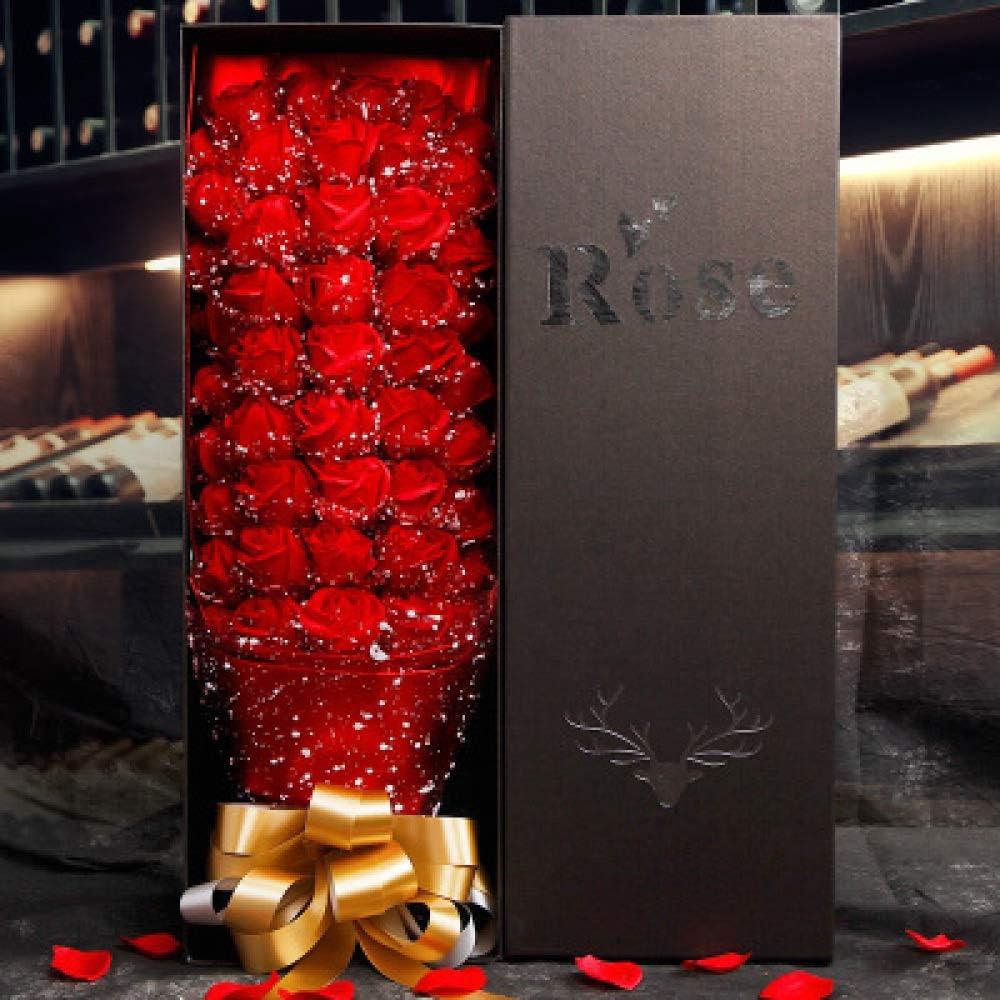 Bouquet De Roses De Fleurs S/éCh/éEs Simulation De Bouquets De Roses pour Petites Amies Fleurs Artificielles Bo/îTe De Conserve en Forme De Coeur De Roses Famille