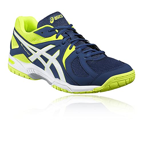 Asics Men's Gel-Hunter 3 Badminton Shoes, Blue (Poseidon/White/Safety