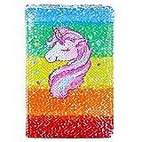 ICOSY Unicorn Sequin Journal Magic Reversible Sequin Notebook Girls Diary Girls Journal Set Mermaid Flip Sequin Notebook Unicorn Journal Gifts for Girls
