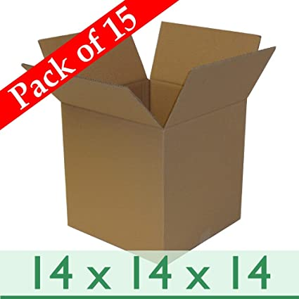 Pack Of 15 Strong Postal Mailing Cardboard Gift Boxes Double Wall 14 X 14 X 14 356mm X 356mm X 356mm
