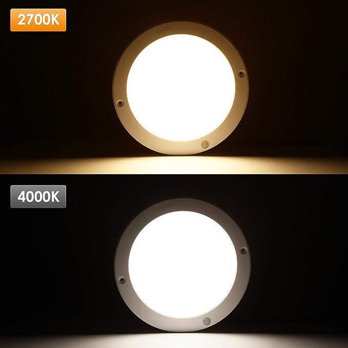 Lámpara de Techo LED con Sensor de Movimiento, de 18 W, de la Marca Albrillo, Daylight White (Motion Activated), 1