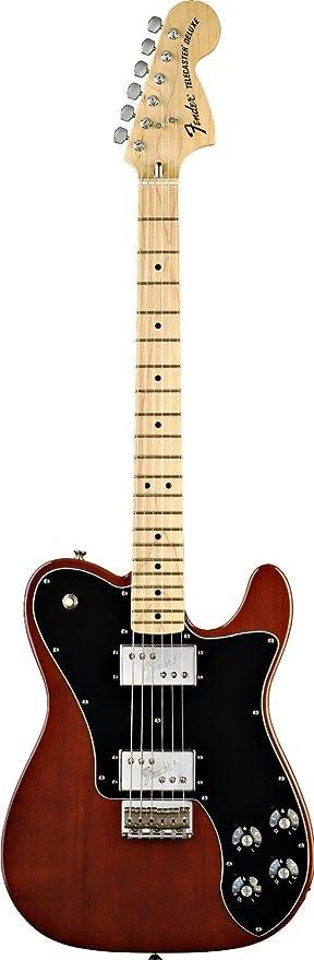 Fender 0137702306 Classic Series 72 Telecaster Deluxe - Guitarra eléctrica para diapasón (madera de arce), color negro: Amazon.es: Instrumentos musicales