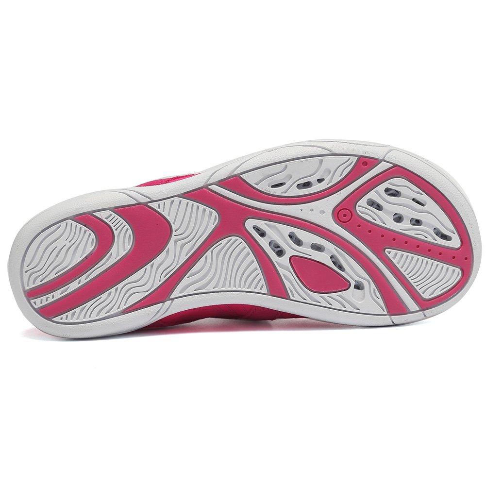 Fanture Girls & Boys Water Shoes Lightweight Comfort Sole Easy Walking Athletic Slip on Aqua Sock(Toddler/Little Kid/Big Kid) U4JSX001-Pink-33 by Fanture (Image #4)