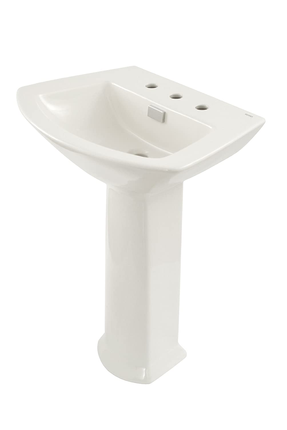 TOTO LPT960#01 Soiree Lavatory and Pedestal with Single Hole, Cotton ...