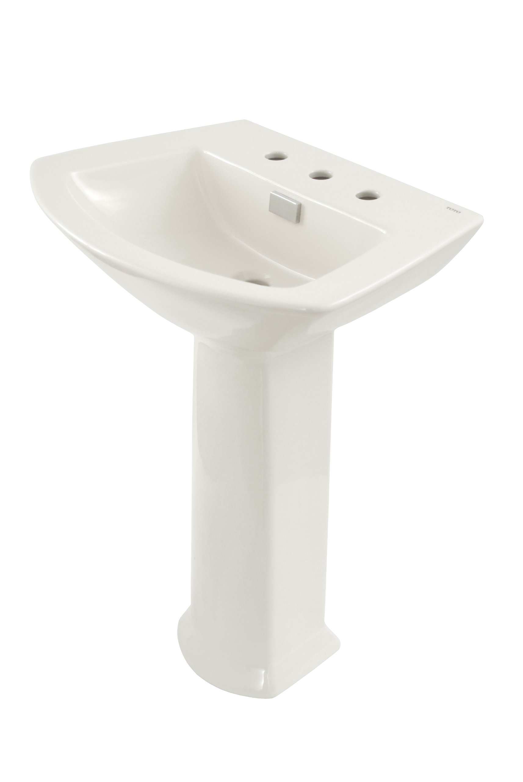 TOTO LPT960.8#01 Soiree Lavatory and Pedestal with 8-Inch Centers, Cotton White