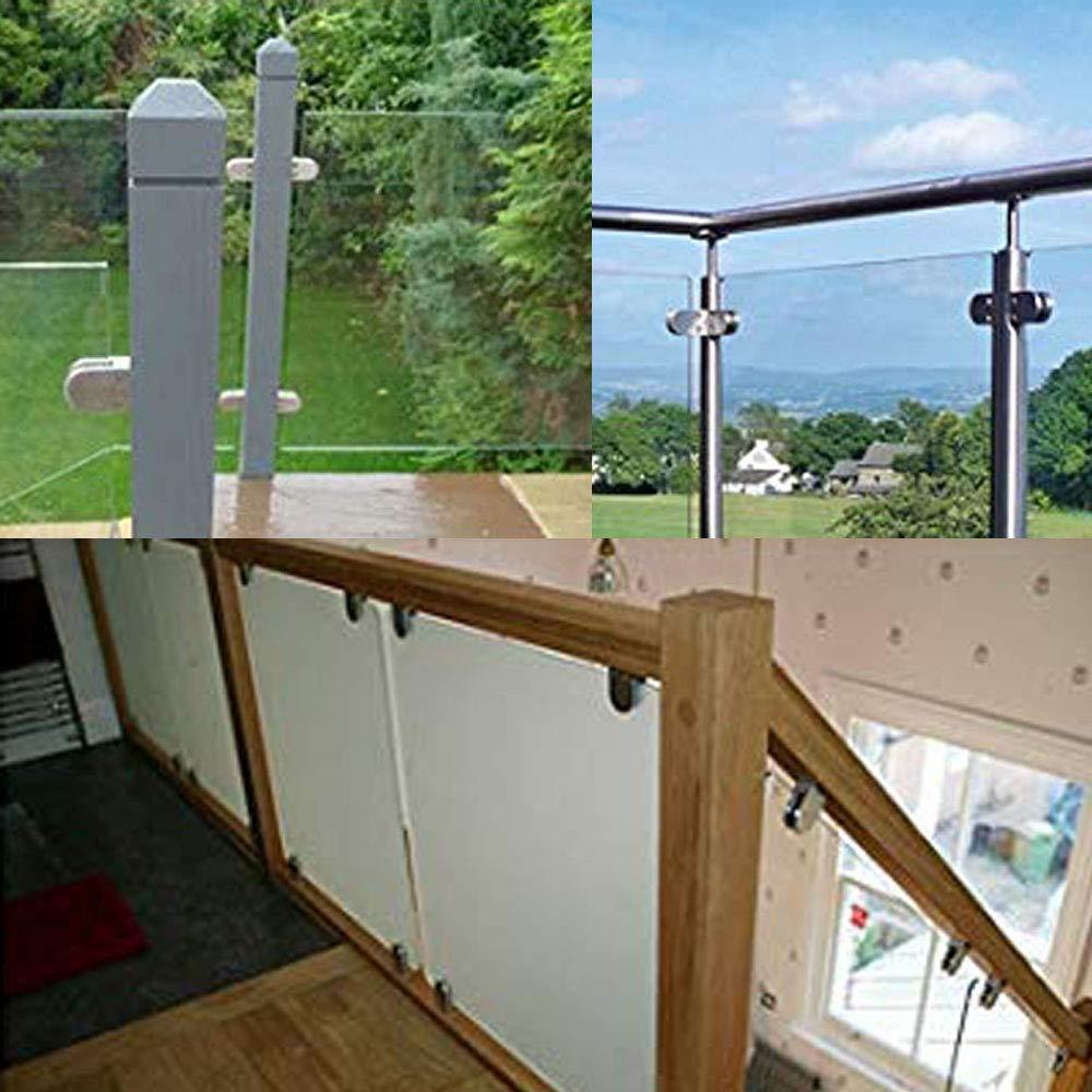 inherited pince de verre,pince /à verre 4 pi/èces 6-10 mm 304 Acier Inoxydable Pince de verre r/églable supports de fixation pour maison escalier toilettes balcon,Escaliers