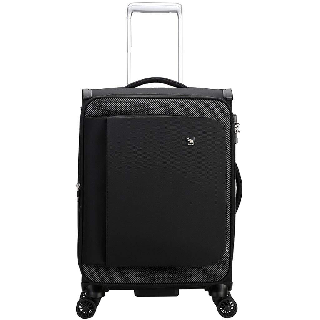 ZXXZ トロリーケース- オックスフォードの布のビジネストロリー箱のスーツケース、普遍的な車輪20/24インチの男性のスーツケース搭乗シャーシ (Color : Black, Size : 20in) B07T9LNY3S Black 20in