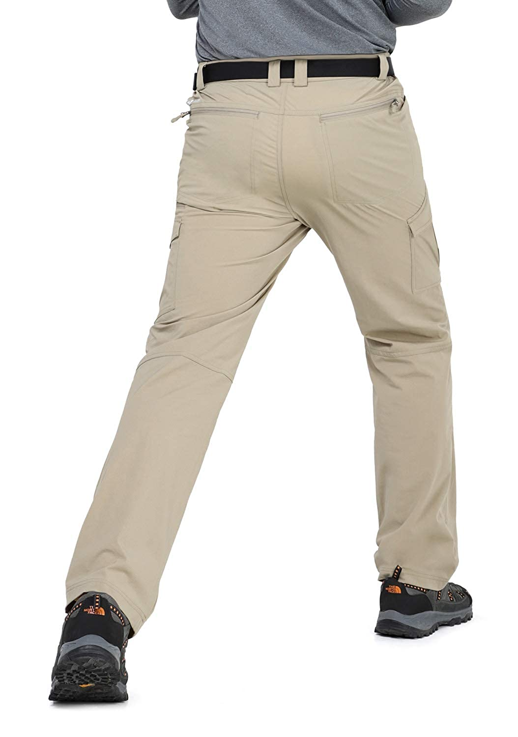MIER Mens Stretch Hiking Pants Quick Dry Outdoor Cargo Pants 7 Pockets Lightweight and Water Resistant