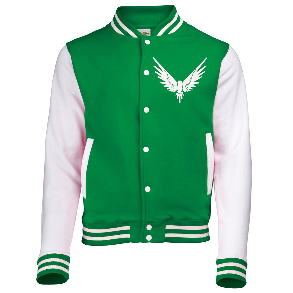 AWDis Maverick Bird Logang Varsity Jacket Unisex Various Sizes American Baseball Letterman