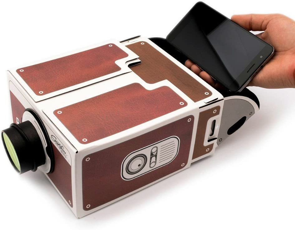 Fits All Phones. Smartphone Cinema in A Box Yorkshire Portable DIY Cardboard Smart Phone Projector
