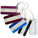 FunYoung™ Metall Kofferanhänger Gepäckanhänger Kofferschild mit Adressschild 5 Stück in Set (5 Stück Set)
