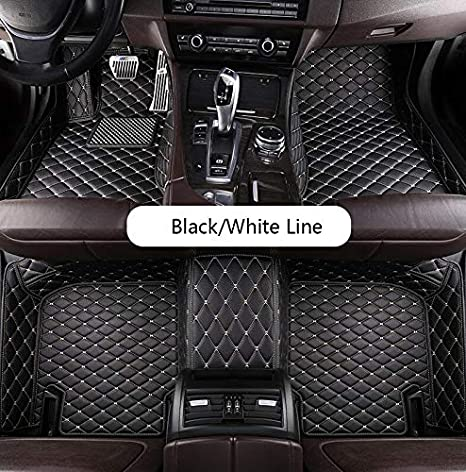2013-2019, Black Fit for BMW 3 Series CAR AUTO Fit for BMW 3 Series E90 E91 E92 E93 F30 F34 320i 325i 328i 330i 335i 320d 325d 2005-2019 Custom Luxury Waterproof Floor mats Logo Four Doors