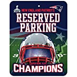 New England Patriots Official NFL 8.5 inch x 11 inch Super Bowl 49 Champions Metal Parking Sign by Rico Industries