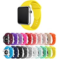 Pulseira Silicone para Apple Watch 40mm e 38mm - Amarelo - Tamanho M/L [G] - Marca Ltimports