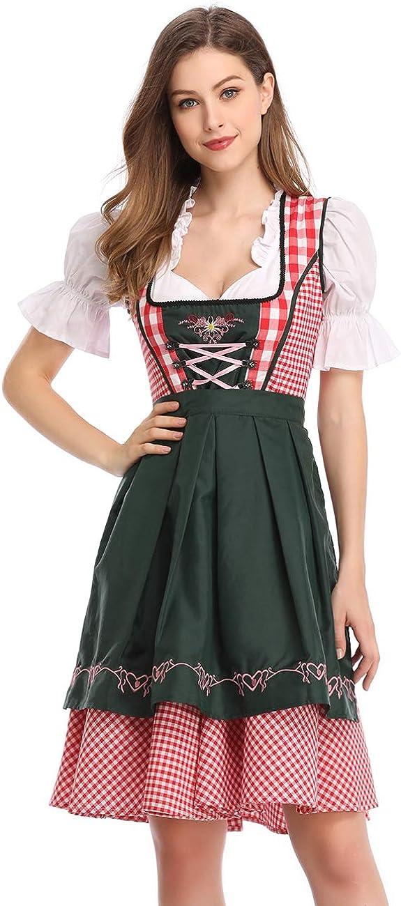 Amazon.com: GloryStar - Disfraz de tirolesa alemana para ...