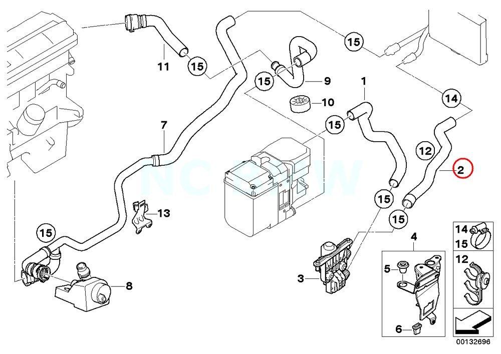 amazon com bmw genuine hose f water valve and radiator automotive