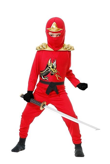Ninja Avenger II with Armor, Red, Child XL