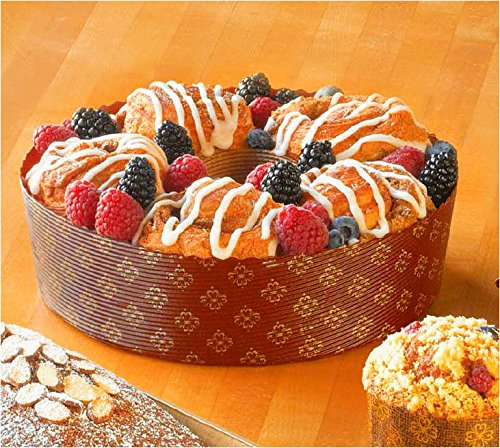 Paper Ring Bundt/Angel Food Cake Pan 7 7/8'' x 2 3/8'' - 12 (Bundt Pound Cake)