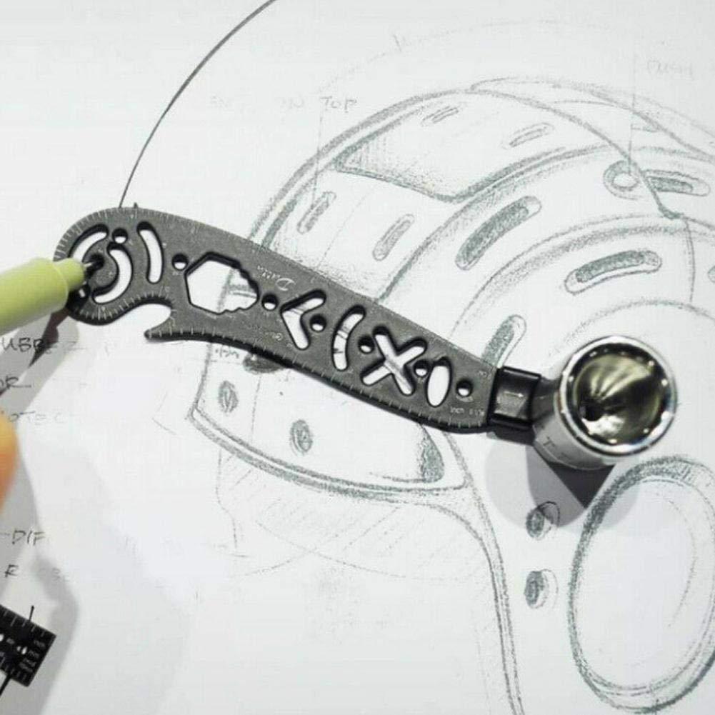 Outil de peinture multifonctions Bicaquu Cr/éation dun outil de jauge circulaire magn/étique Boussole circulaire Magcon