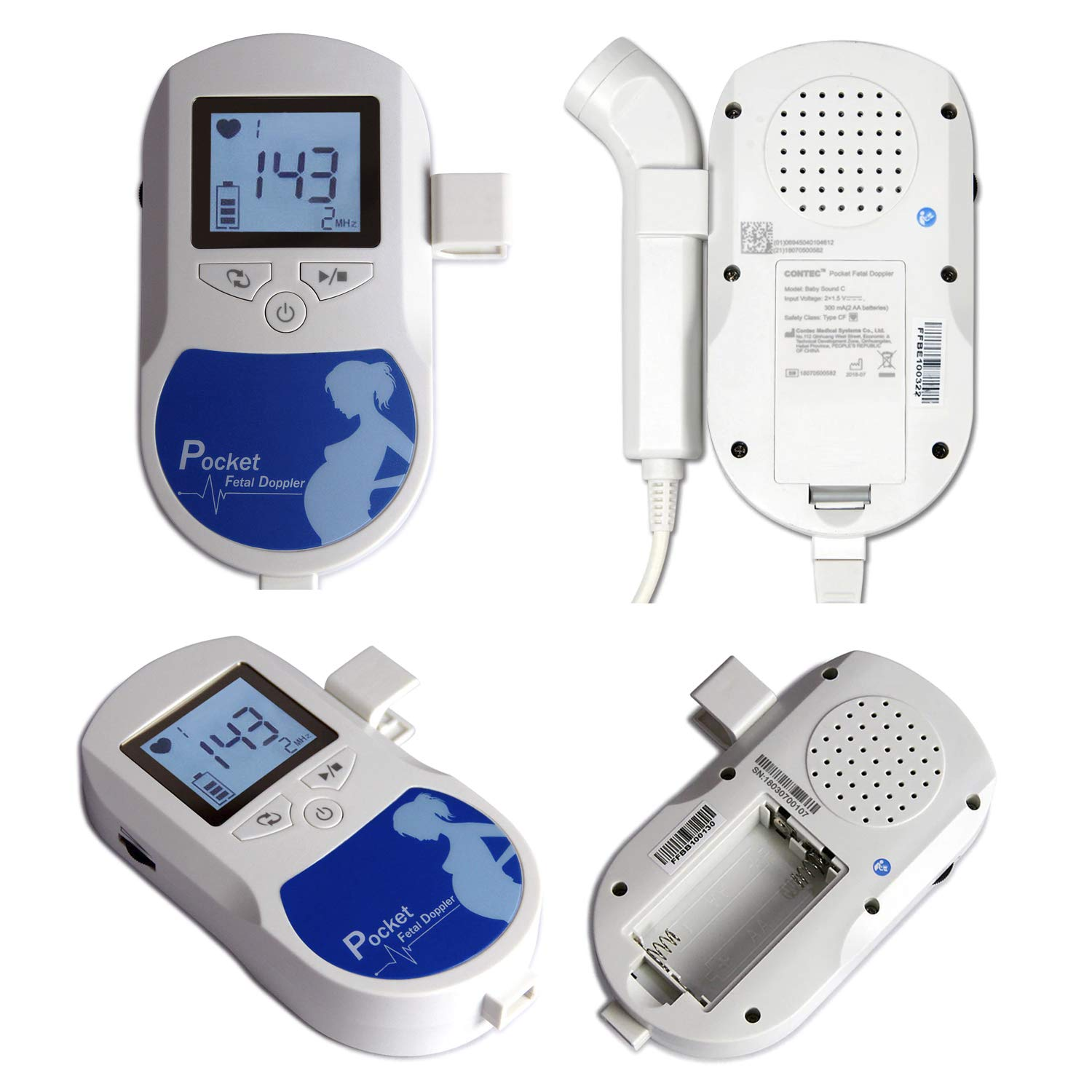 3 MHz Pocket Size Baby Echo Device - Comes with Crooked Probe and Batteries - The Perfect Reliable Gadget for Your Baby by Happy Toes (Image #3)