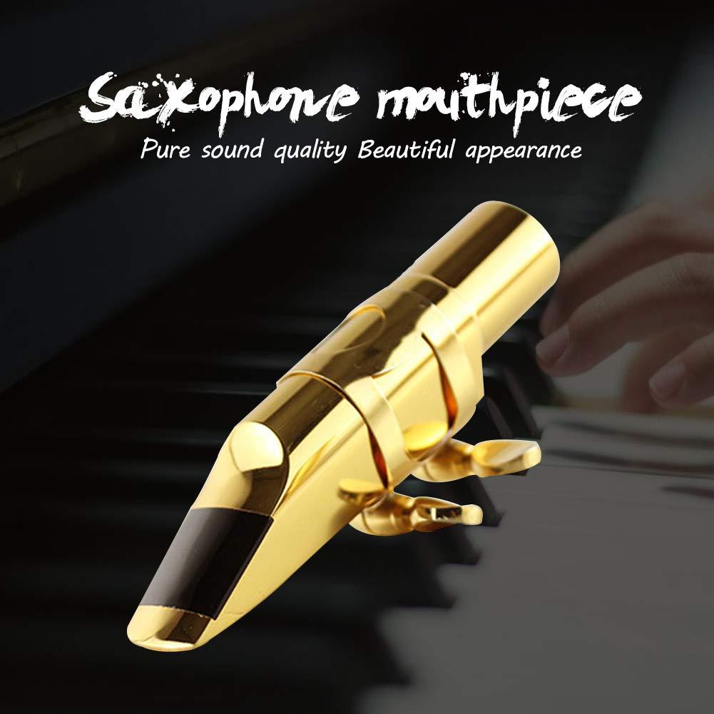 MCLseller Bocchino per Sassofono in Metallo 8C con Cappuccio 7C bocchino per Sassofono tenore Placcato in Oro Professionale 6C Tono Sax Alto 5C