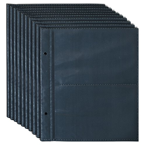 Giftgarden 4x6 Black Pocket Photo Album Pages Hold 4 by 6 inch Picture, 4 Photos/Page(10 Pages) from Giftgarden