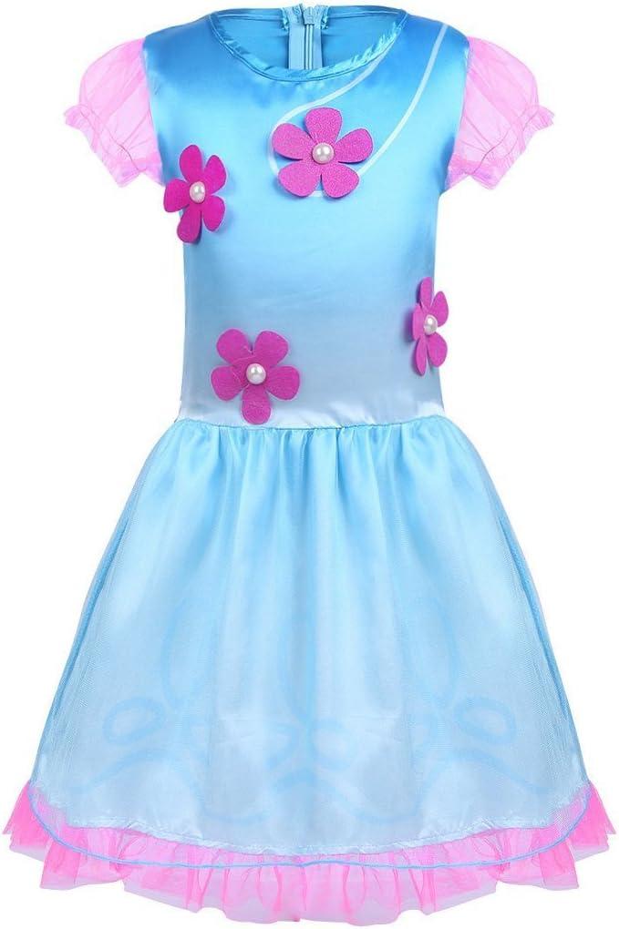 BT WILLING - Disfraz de princesa Poppy, de Trolls, con peluca ...
