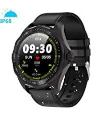 Smart Watches, 1.3'' Full Round HD Color Touchscreen Fitness Tracker with Heart Rate Tracking, 5ATM Waterproof Fitness Watch, Activity Sleep Tracker Smart Reminder, Long Battery Life Smartwatch