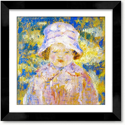 Study Fine Art Oil (Cutler Miles Frances (Study) Framed Oil on Canvas Painting Wall Decor Art with Matboard by Frederick Carl Frieseke, 24 inches x 24 inches)