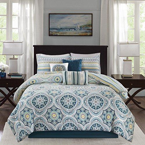 Madison Park Mercia Comforter Set, Navy (Comforter Percale Set)