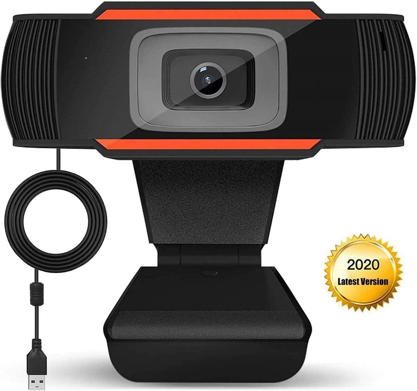 Webcam 1080P Dual Built-in Microphones PC Laptop Desktop USB Computer Camera for Video Calling Recording Conference Study Skype