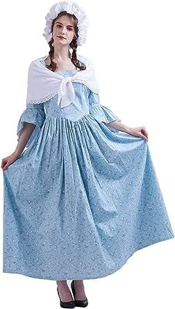 GRACEART Vestido de Traje de Mujer pionero Colonial