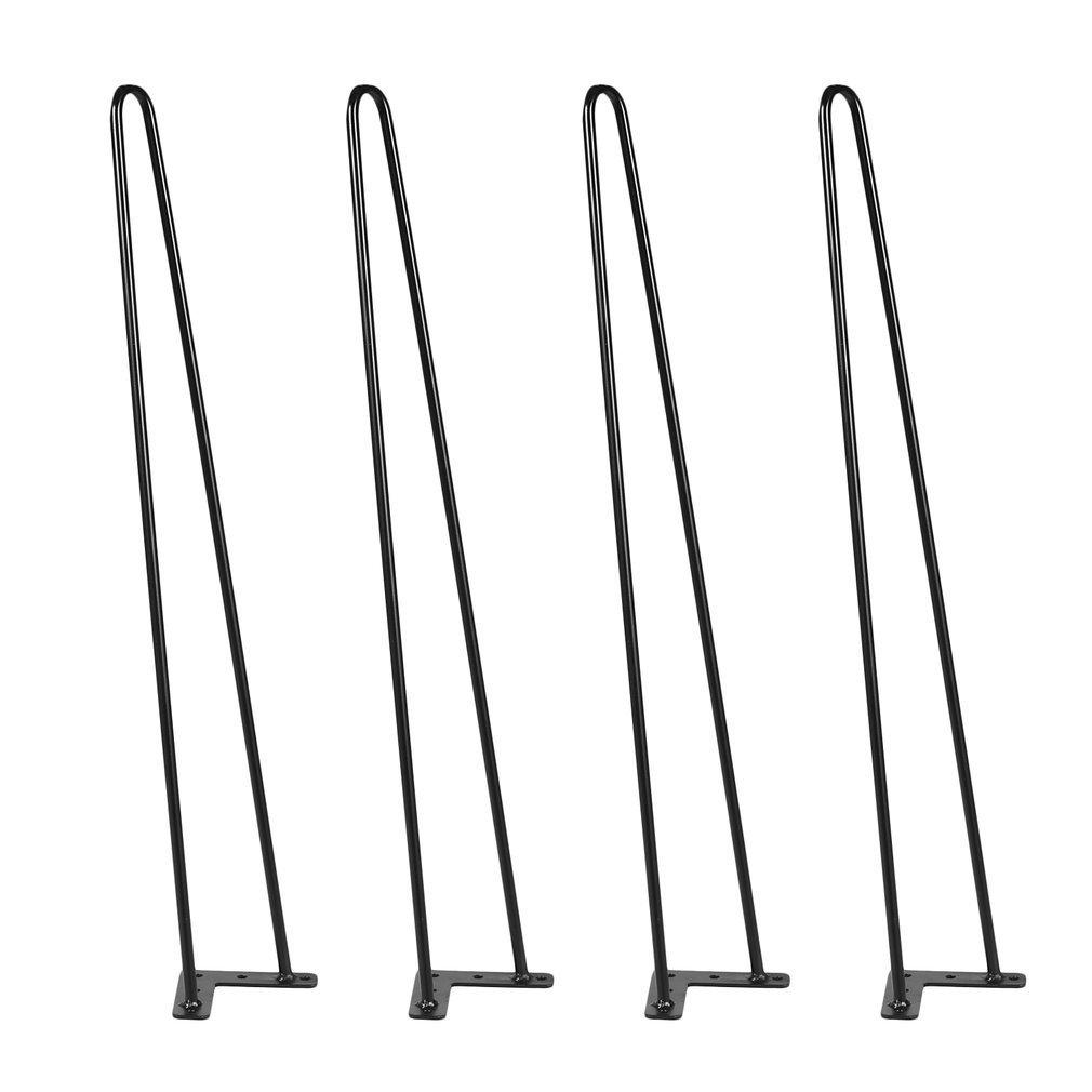 Hairpin Table Legs 28'' Heavy Duty Hairpin Legs, (Set for 4 ) Heavy Duty Table Legs (Black)