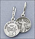 GOD BLESS MY DOG – Saint Francis Charm, Tag – with PRAYER CARD, from Fantasy Farm, My Pet Supplies