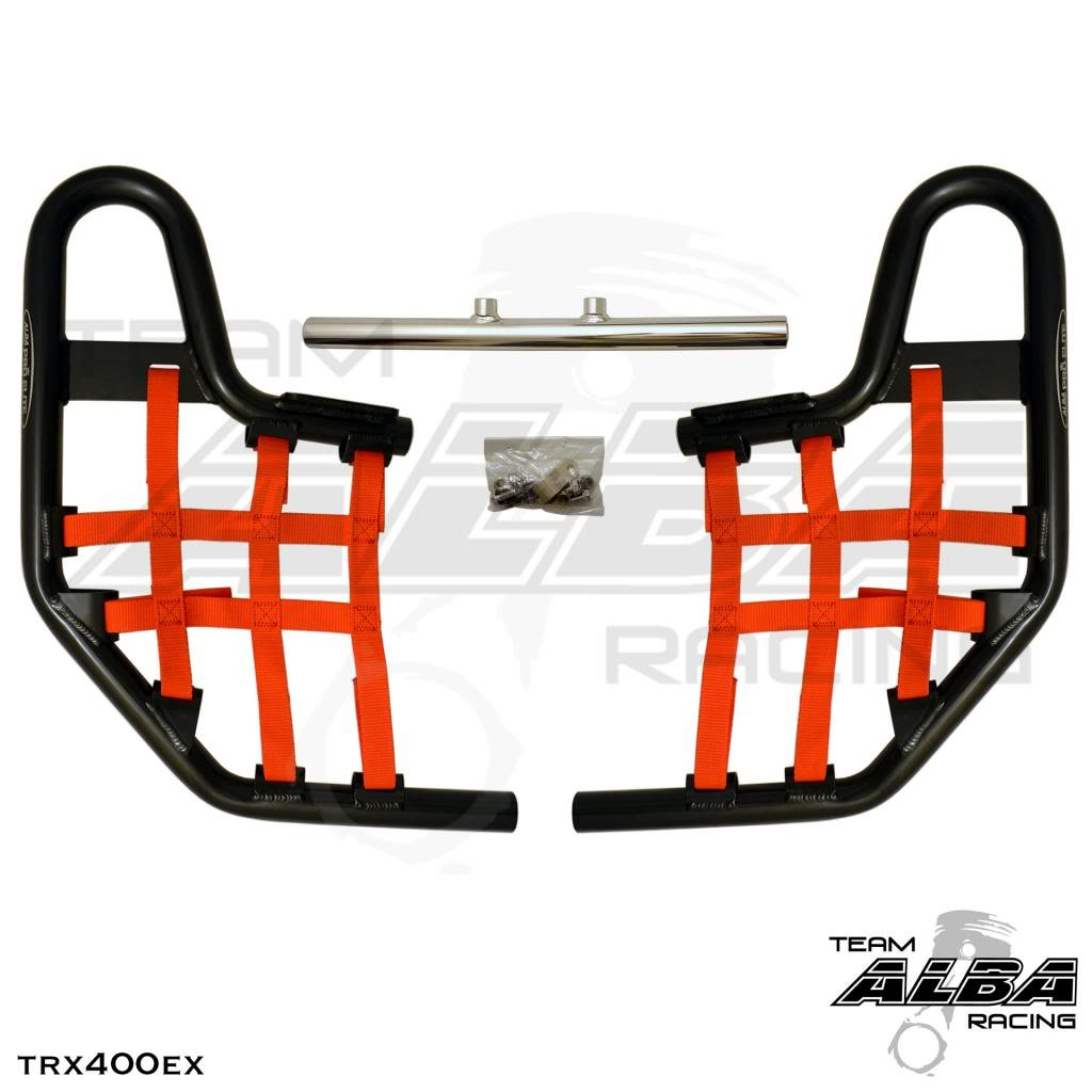 TRX 400EX SPORTRAX Standard Nerf Bars 1999-2014 w//Red Net Black Bars Compatible with Honda Compatible with Honda