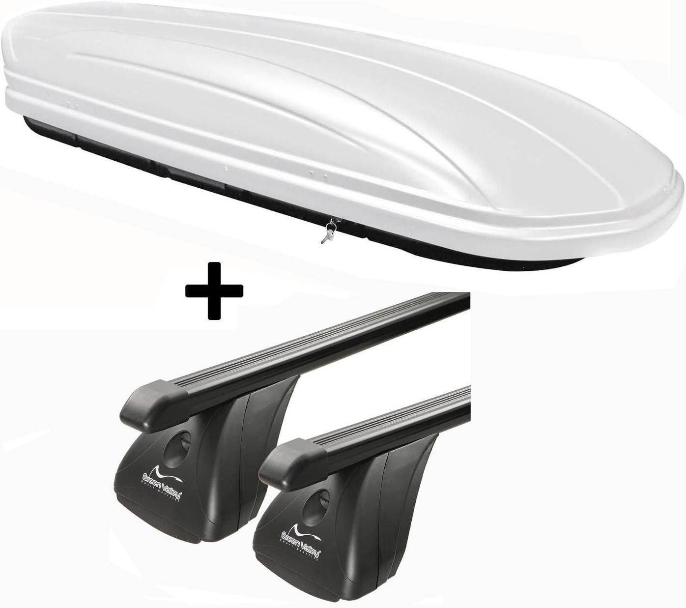 5 Portes /à partir de 2015 Barres de Toit en Aluminium RB003 Compatible avec Volkswagen Touran VDPMAA320 Coffre de Toit verrouillable Noir