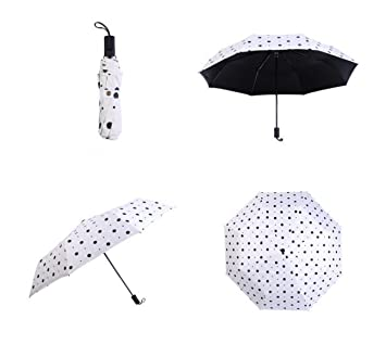 De Lunares Vinilo Paraguas Paraguas Paraguas Fresca Pequeña