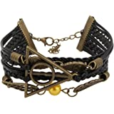 Access-O-Risingg Harry Potter Inspired Black Artificial Leather Multi-Strand Unisex Bracelet [Br062]