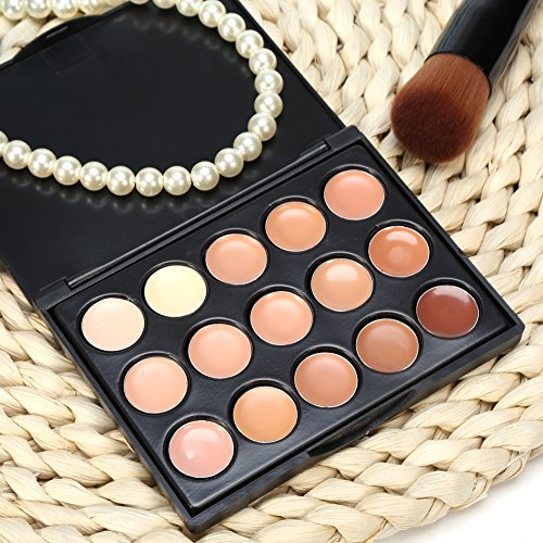 3 Types Professional Concealer Palette Make Up Face Eye Circle Cover Cream Cosmetic 15C olors (3)