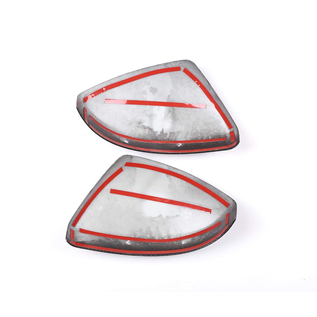 Carbon Faser Stil Seite R/ückspiegel Gap Verkleidung f/ür Discovery Sport 15 18 18/F-pace 17 18/Evoque velarer 16