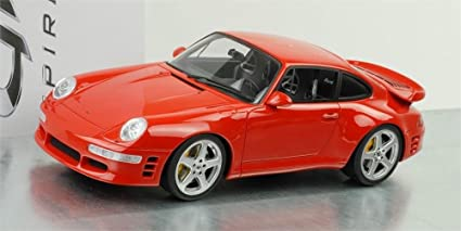 1998 Porsche 911 Turbo R in Red in 1:18 Scale by GT Spirit