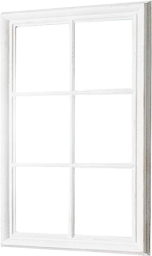 DuNord Design Wandspiegel Vintage weiß 105x65cm grau Holz ...
