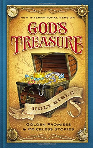 NIV, God's Treasure Holy Bible, Hardcover: Golden promises and priceless stories