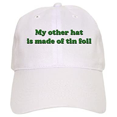 7c2f8cc1e18 Amazon.com  CafePress - Other Hat Made of Tin Foil Cap - Baseball Cap with  Adjustable Closure