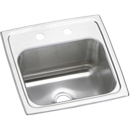 Elkay Celebrity BPSR151 Single Bowl Top Mount Stainless Steel Bar Sink