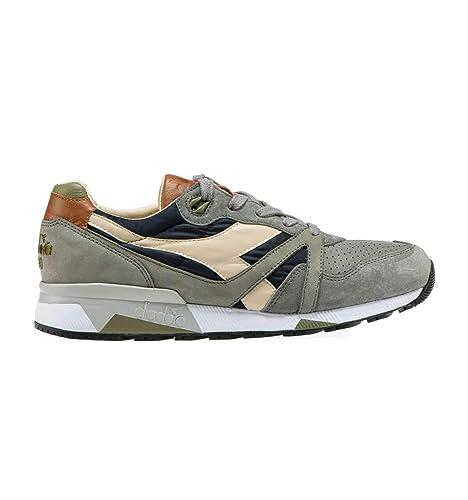 Diadora Heritage Hombre 201172782C7646 Gris Cuero Zapatillas: Amazon.es: Zapatos y complementos