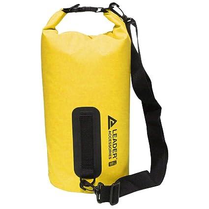 Leader Accessories Bolsa Estanca Bolsa Seca Impermeable Vinilo PVC 5L/10L/15L/20L/30L/40L/55L para Rafting/Kayak/Navegación/Senderismo/Esquí/Buceo/Pes...