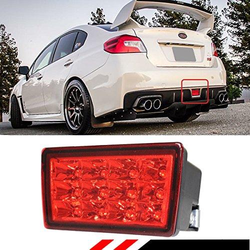 FOR 2011-2017 SUBARU WRX STi XV F1 STYLE REAR LOWER BUMPER LED FOG LIGHT BRAKE LAMP WITH RED - F1 Light
